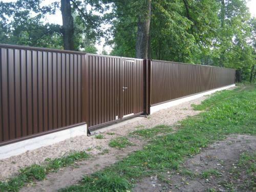 забор для дачи из профнастила в Воскресенске