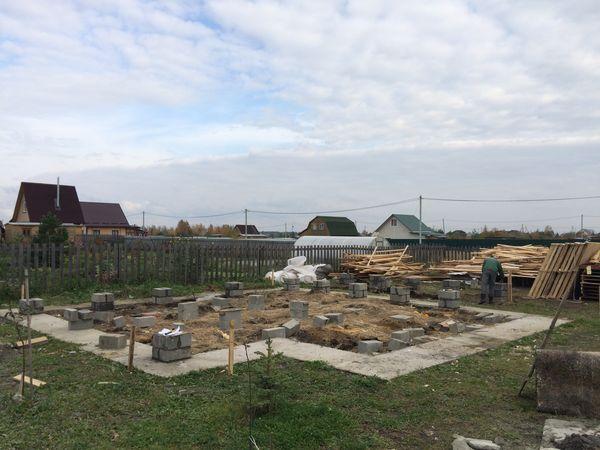 Строительство фундамента для каркасного дома Коломенский р-н , д. Солосцово